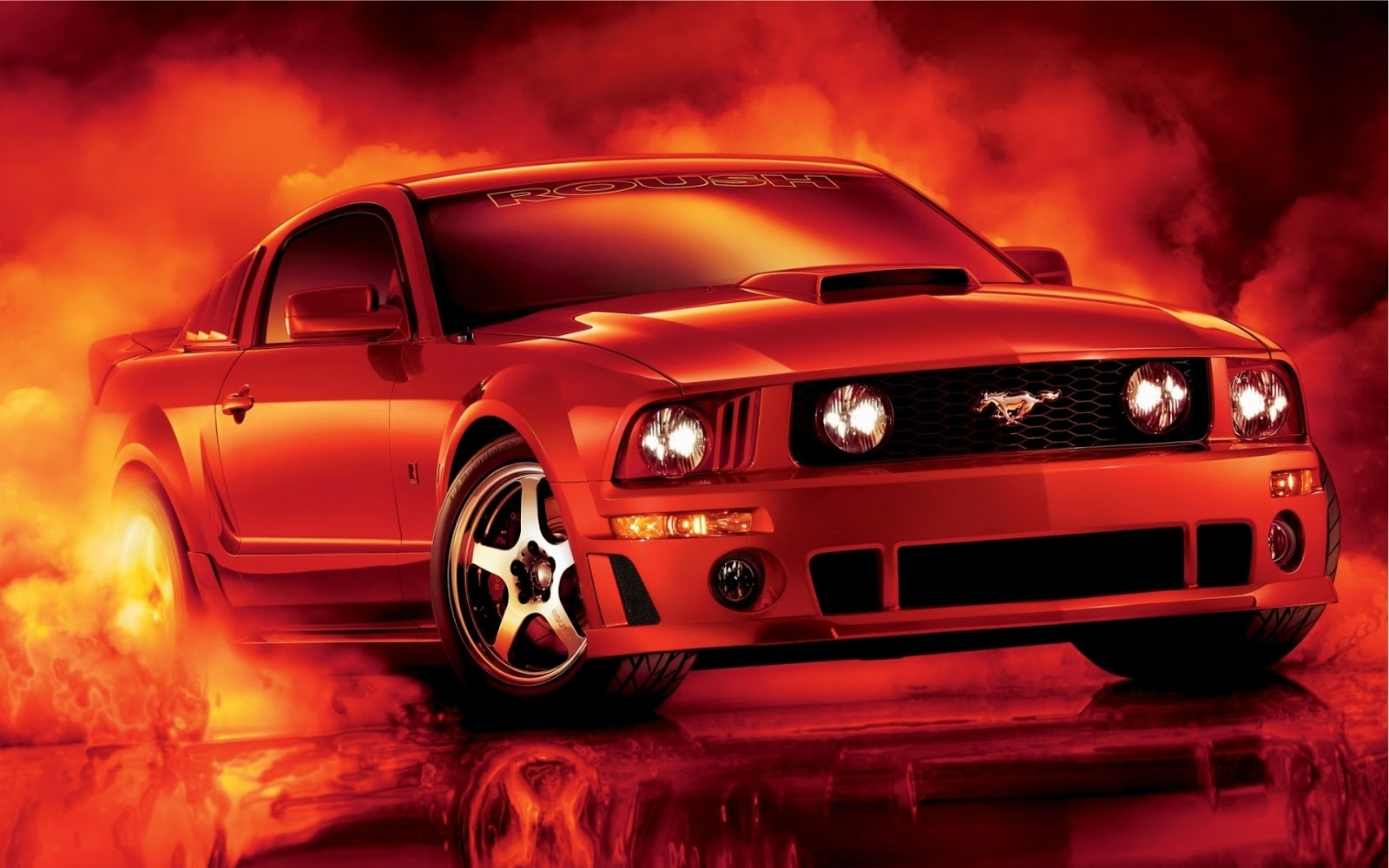 HD Wallpapers Desktop Wallpapers 1080p Ford Mustang Muscle Car 1600x1000