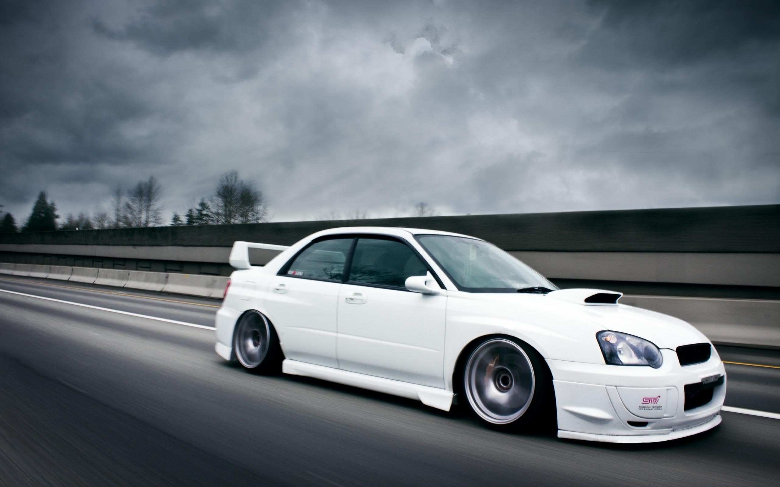 Sti Logo Wallpaper Subaru Impresa Sti White 2560x1600