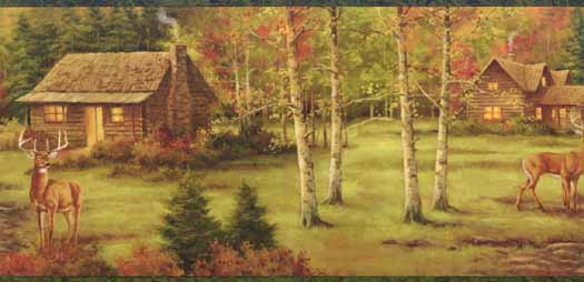 Fall Deer Wallpaper Border   Wallpaper Border Wallpaper inccom 525x254