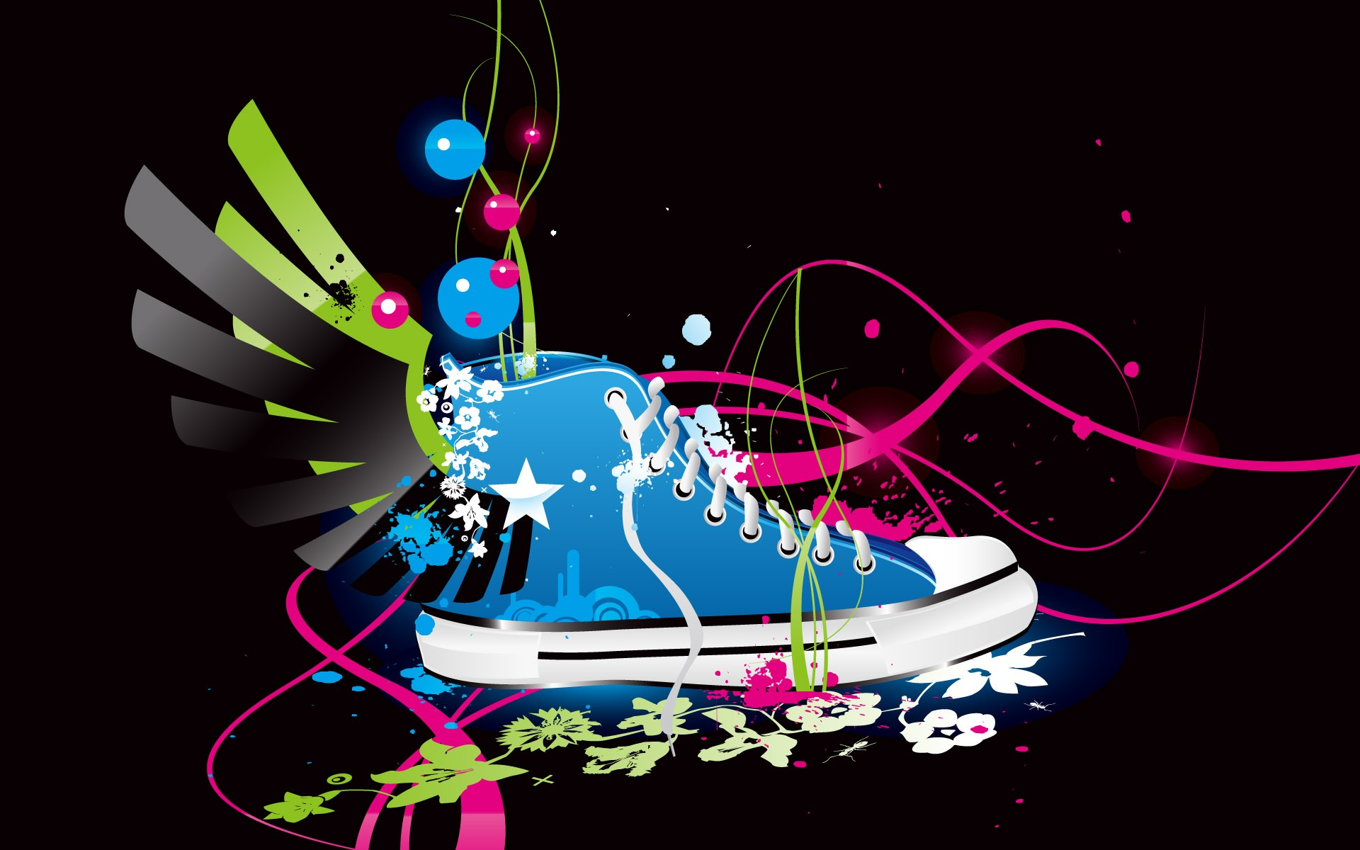 Colored Shoes Wallpaper Abstract D Wallpapers in jpg format for