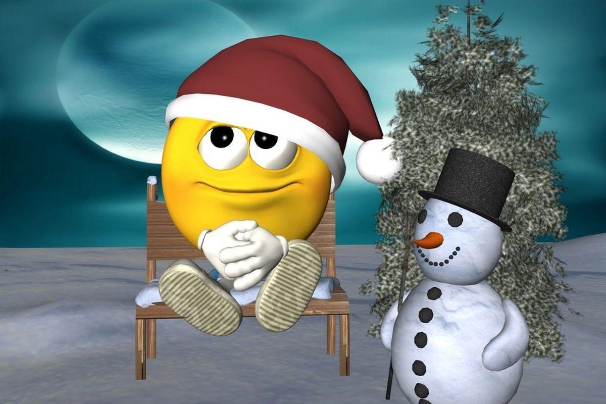 Christmas Smiley Emoticon Navidad Snowman wallpaper download 1200x800