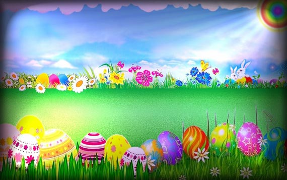 Kids Easter   31 Cute Easter wallpapers Multy Shades 570x357