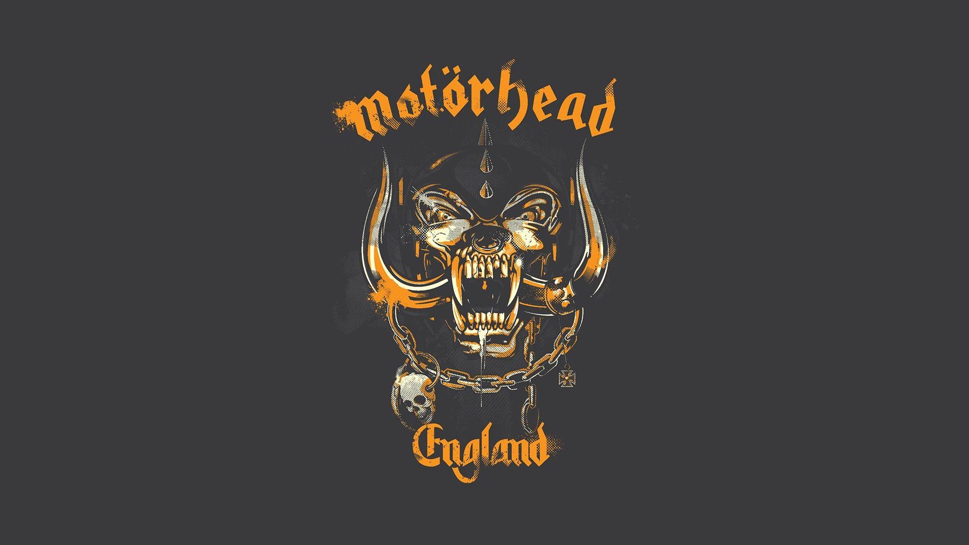 Yellow Tone Motorhead Logo Hd Desktop Wallpaper Mythical Wallpapers 1920x1080