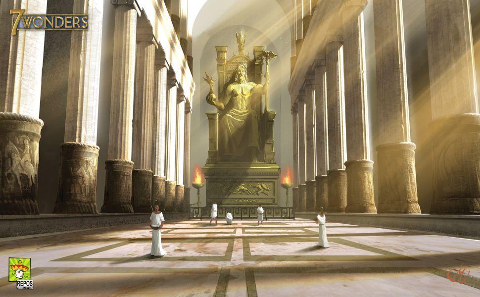 Statue Of Zeus At Olympia HD Wallpaper Wallpapers Greek gods 970x600