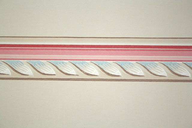 1950s Vintage Wallpaper Border Pink Blue and Tan Geometric eBay 640x427