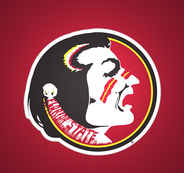 artistic florida state seminoles logo iphon wallpapers wallpapers55 640x600