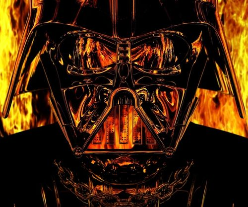 Darth Vader on Fire wallpaper for Samsung Epic 500x417