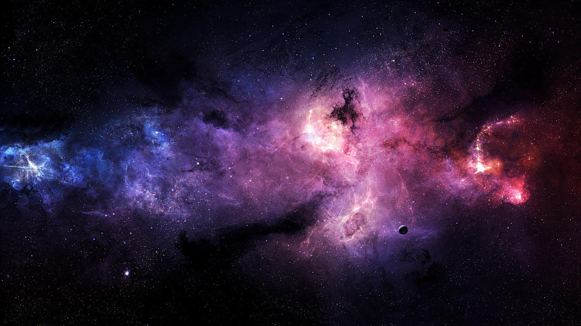 Stars Galaxies Purple HD Wallpaper FullHDWpp   Full HD Wallpapers 1920x1080