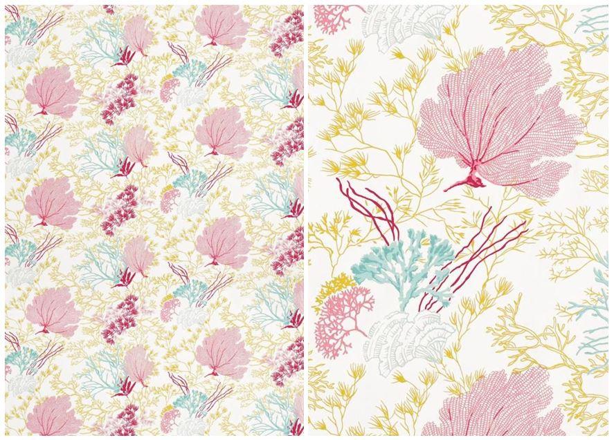Featuring Thibauts Coral Fabric Estate of Design 887x637