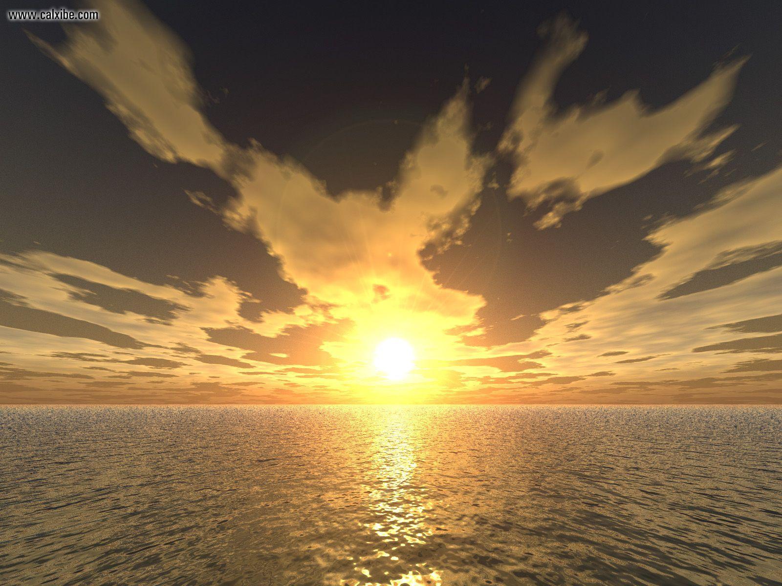 3D Landscape Ocean Sky 3D Sunset picture nr 7168 1600x1200