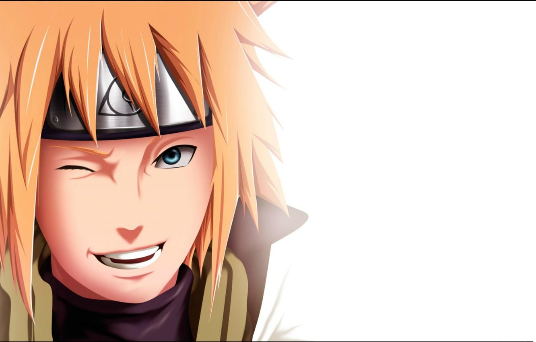 Wallpaper smile white background Naruto wink dad ninja the 1332x850