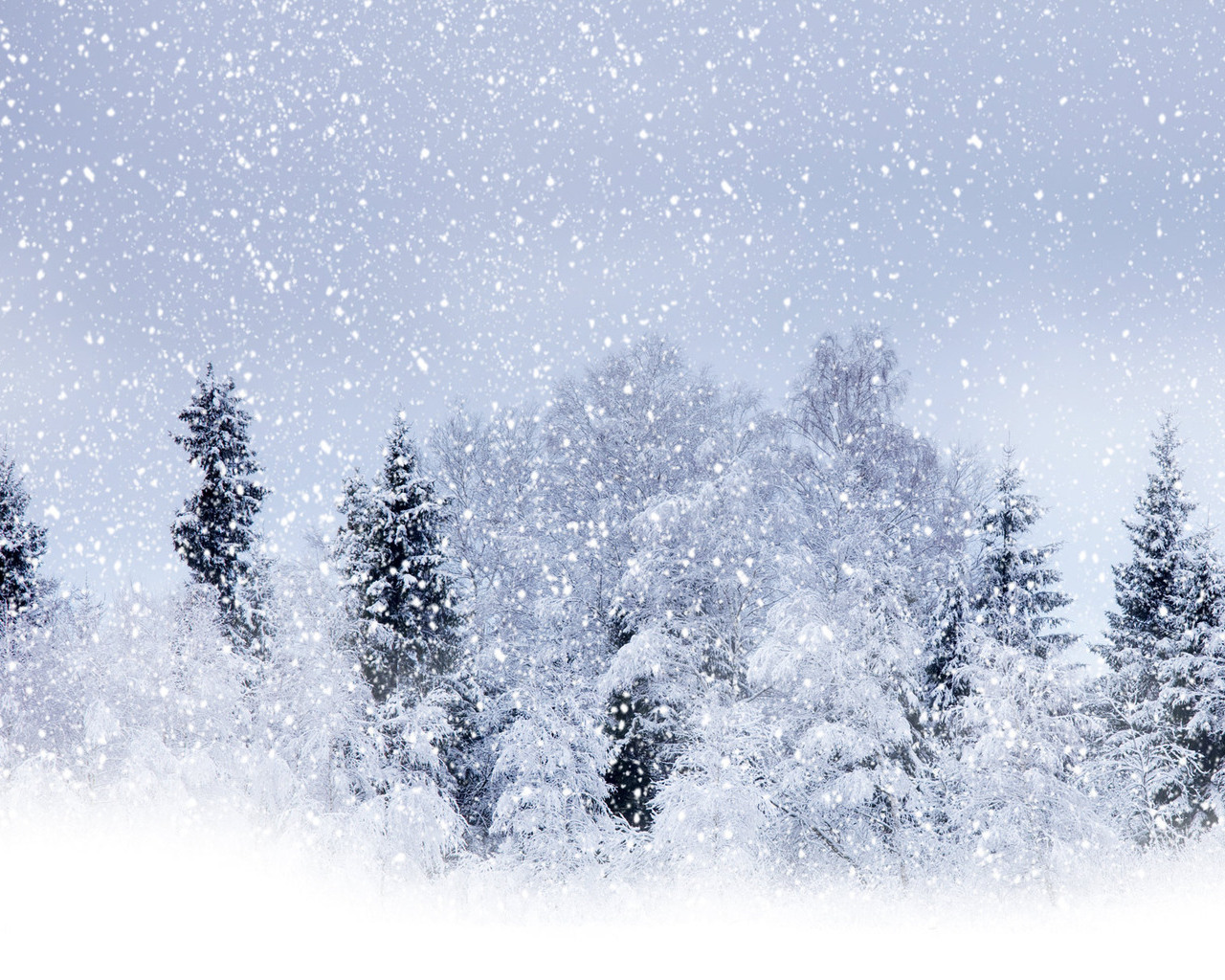 Beautiful Wallpapers Snowfall Wallpaper 1280x1024