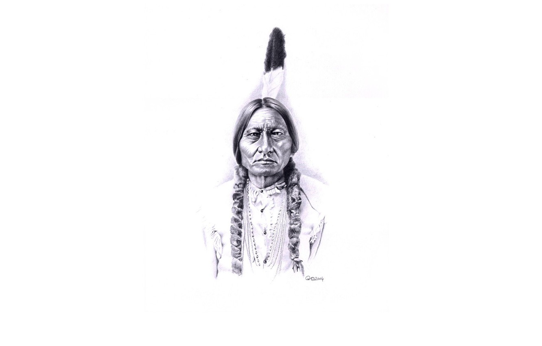 Wallpaper the leader Tatanka Iyotake sitting bull tribe Dakota 1332x850