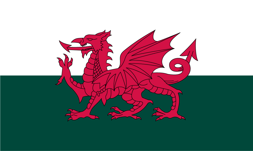 1024x615px Welsh Flag Wallpaper 1024x615