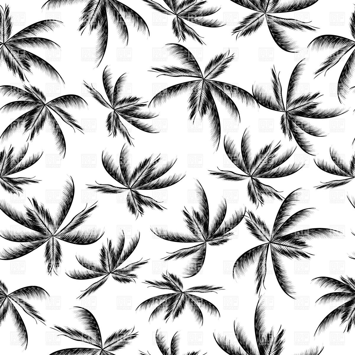 Palm Tree Leaf Seamless Pattern 8581 Backgrounds Textures Abstract 1200x1200