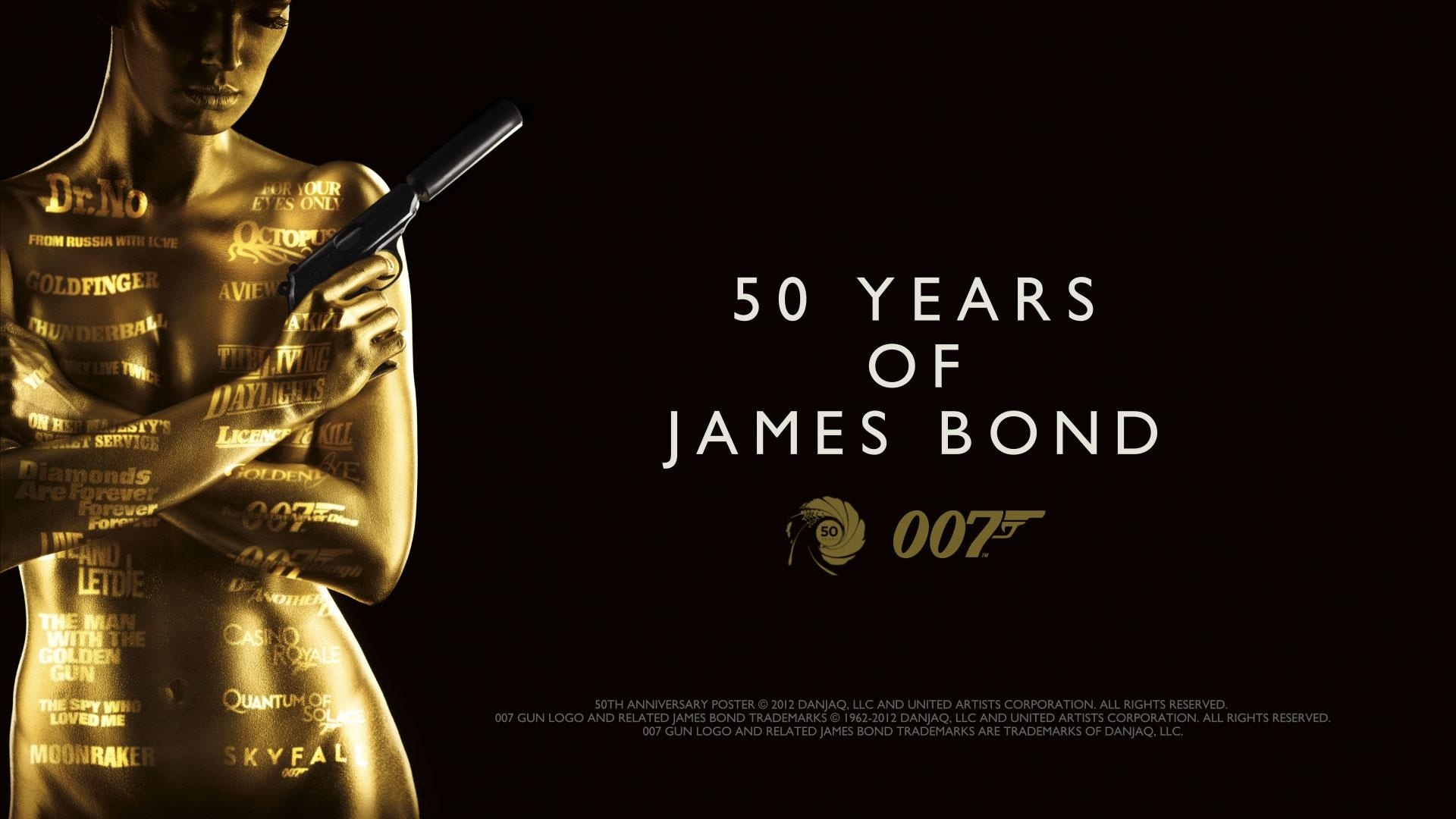 50 years of james bond 007 wallpaper 1920x1080 1080p 1920x1080