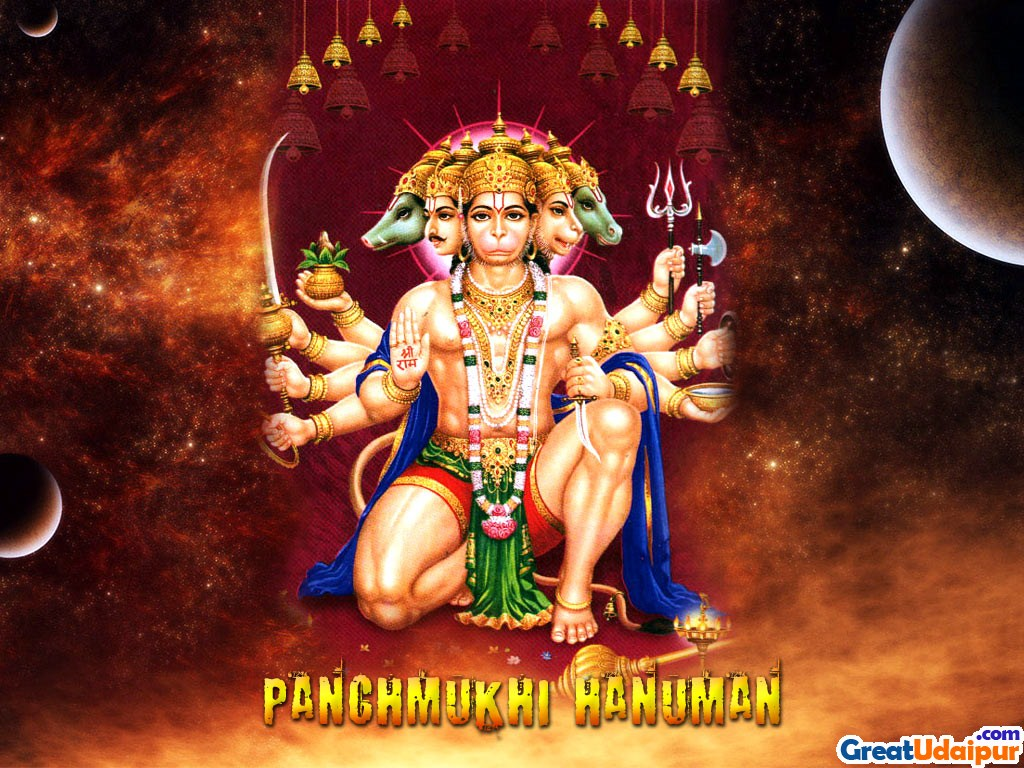 panchmukhi hanuman wallpaper for pc hindu god wallpaper god wallpaper 1024x768