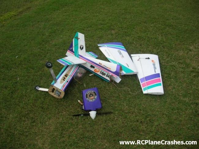 Radio Controlled Model Airplane Crash   Airplane Split into 5 Clean 650x486