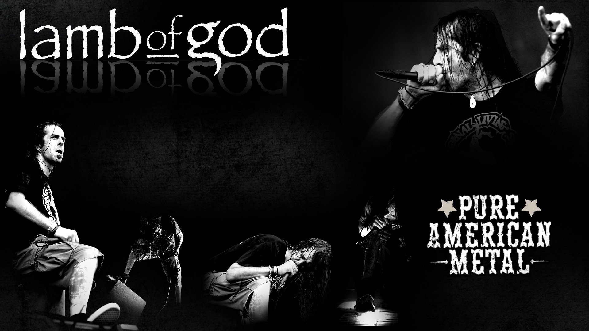 LAMB OF GOD groove metal heavy poster concert microphone f wallpaper 1920x1080