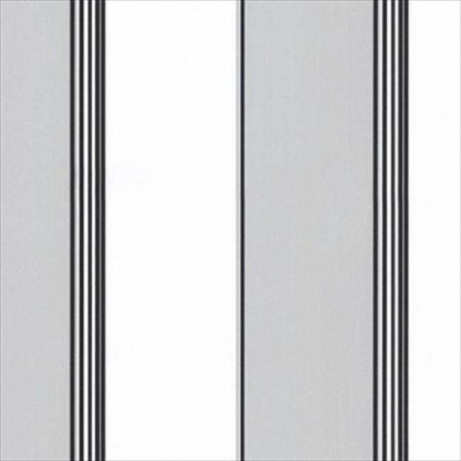 WIDE GREY AND WHITE STRIPE WITH THIN BLACK ACCENT STRIPE WALLPAPER 650x650