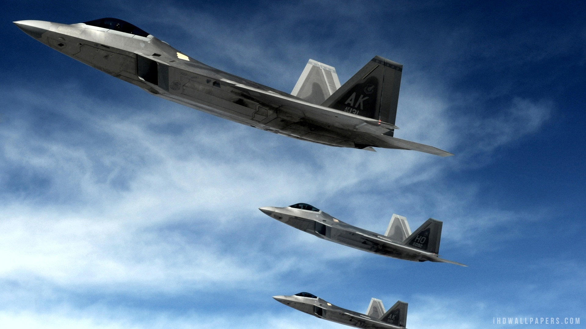 22 Raptor Supersonic Stealth Fighters HD Wallpaper   iHD Wallpapers 1920x1080