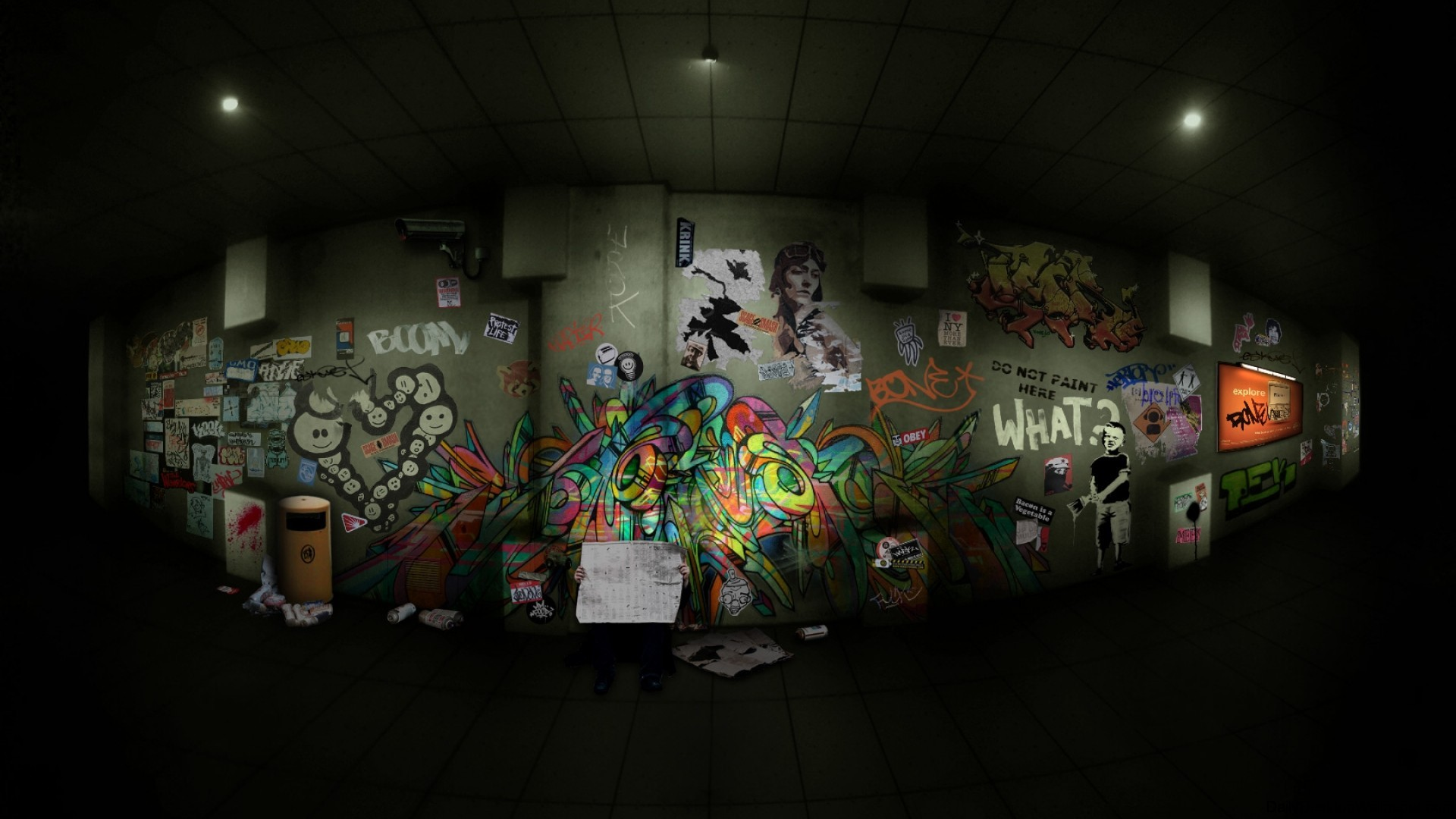 Graffiti wall 1920x1080