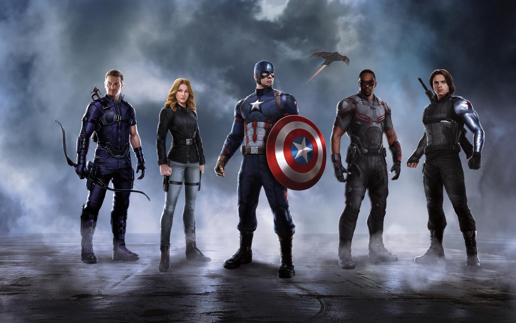 Civil War Captain America Team Wallpapers HD Wallpapers 1680x1050