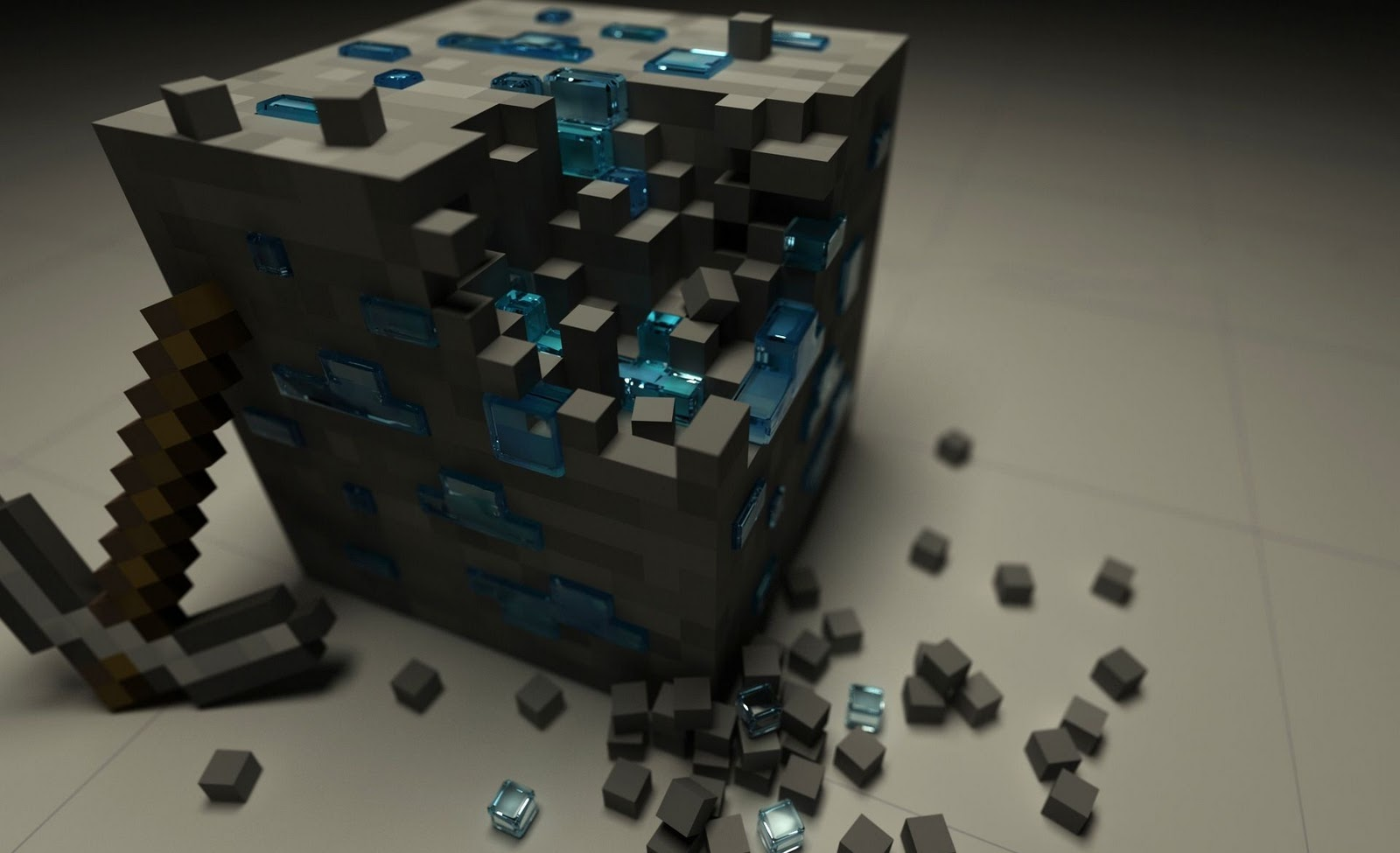 Minecraft Game 3D Cube HD Wallpapers Epic Desktop Backgrounds 1600x975