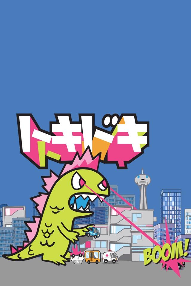 Cartoon Godzilla   iPhone Wallpaper 640x960