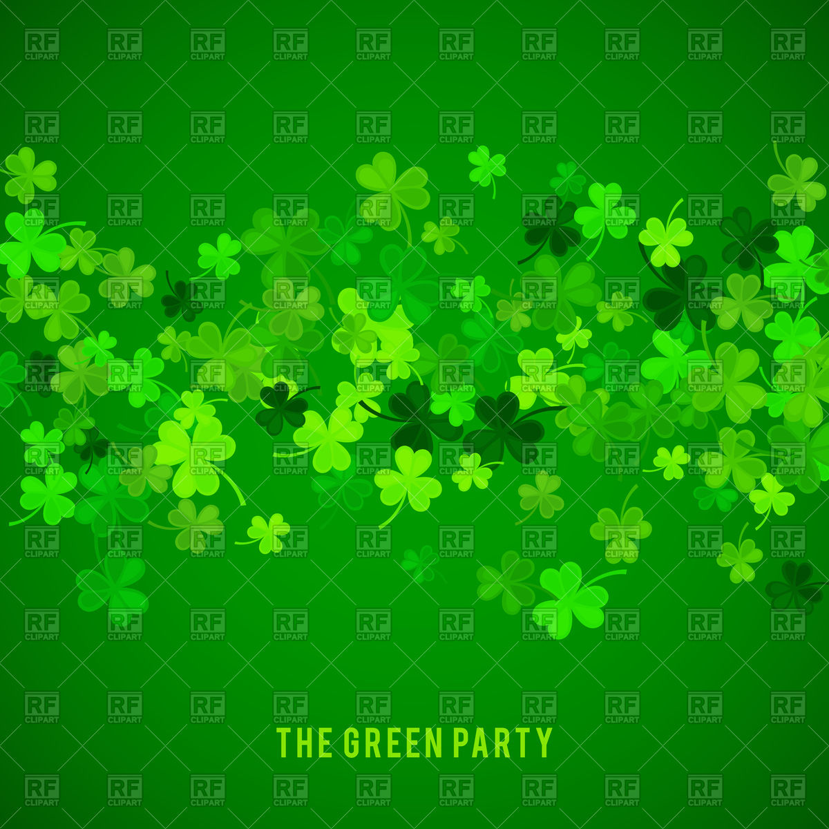 St Patricks Day background with clovers Vector Image 1200x1200
