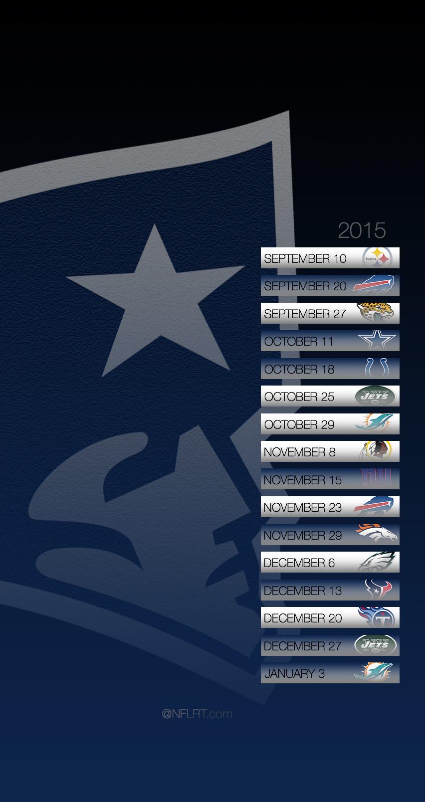 2015 NFL Schedule Wallpapers   NFLRT 852x1608
