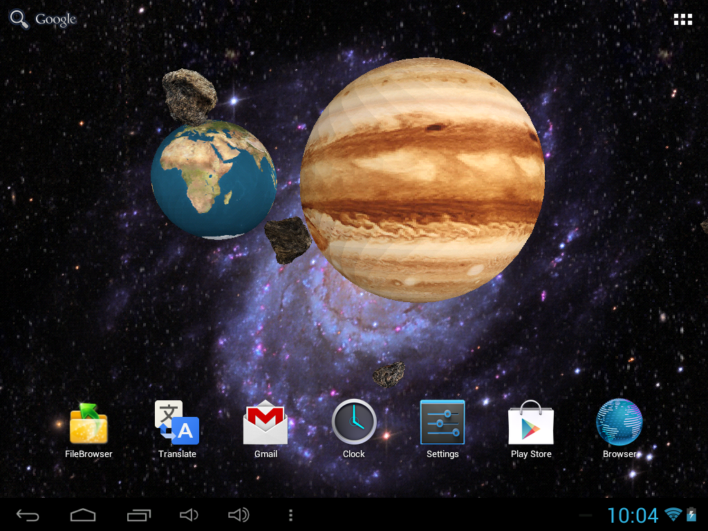 3D Space Live Wallpaper FREE
