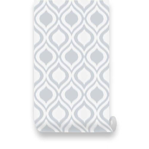 Retro Geometric Grey Removable WallPaper   Pinknbluebabycom 500x500