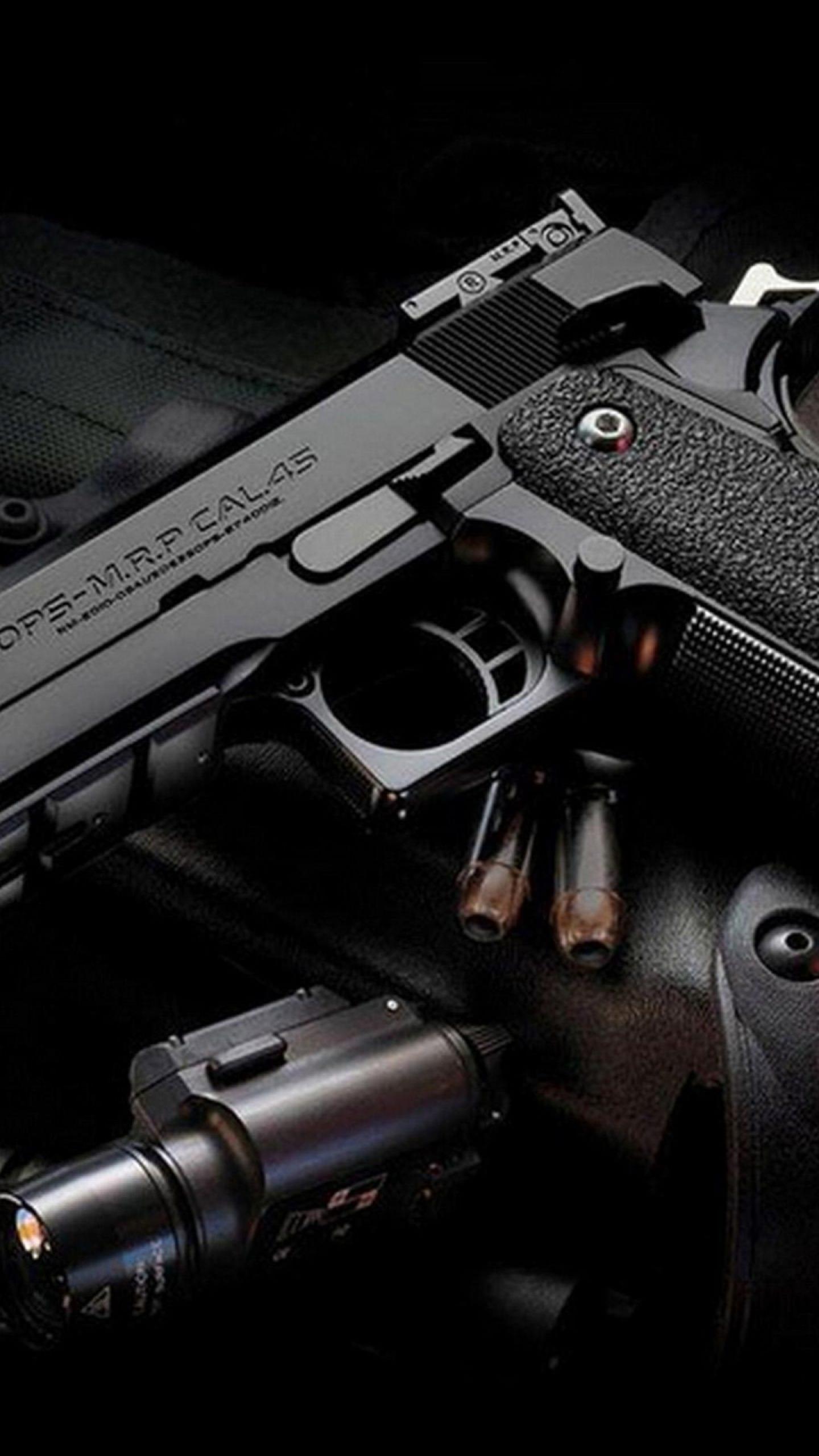 Cool black gun wallpapersc SmartPhone 1440x2560