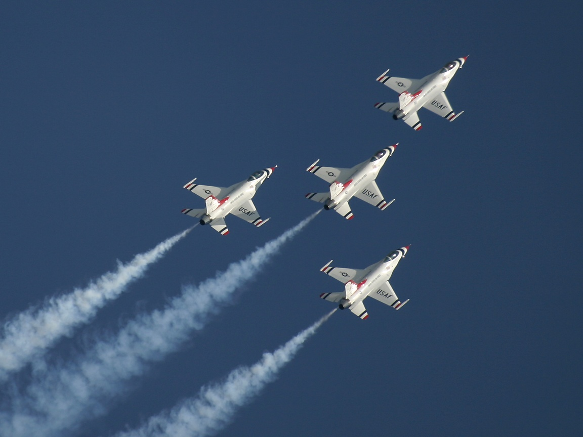 Us Air Force Wallpaper Thunderbirds us air force 1152x864