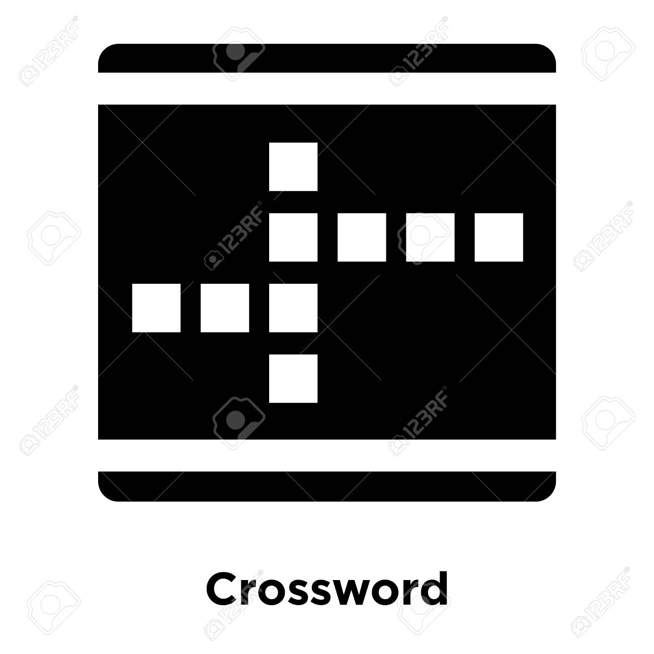 Crossword Icon Vector Isolated On White Background Logo Concept 1300x1300