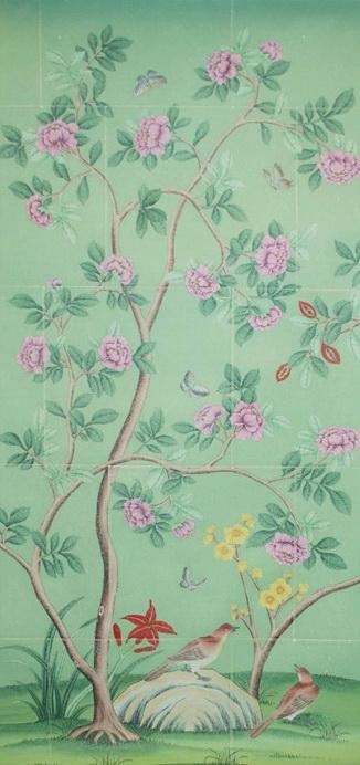 wallpaper silk wallpaper chinese wallpaper hand painted silk 326x692