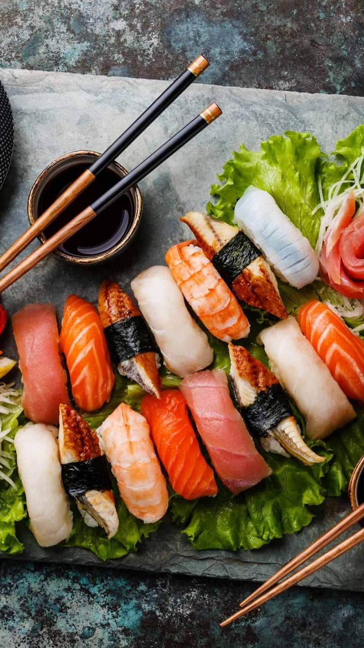 Japanese food sushi food tea 750x1334 iPhone 8766S wallpaper 750x1334