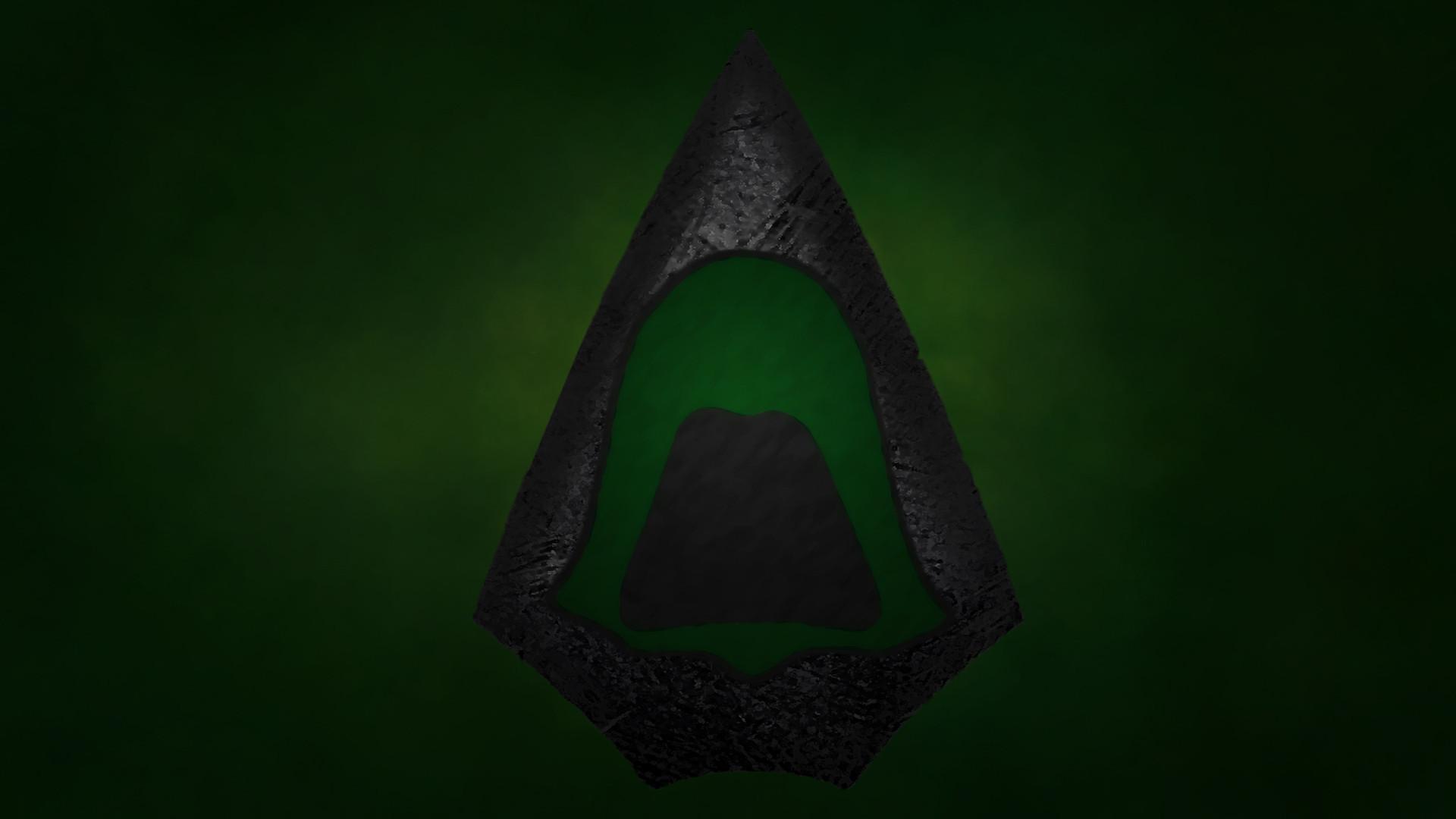 Green Arrow Wallpaper Simplistic ish [19201080] 1920x1080