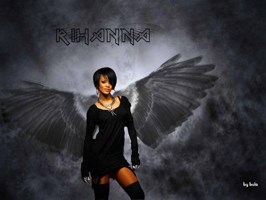 Rihanna Black Angel Wallpaper   Rihanna Wallpaper 1024x768