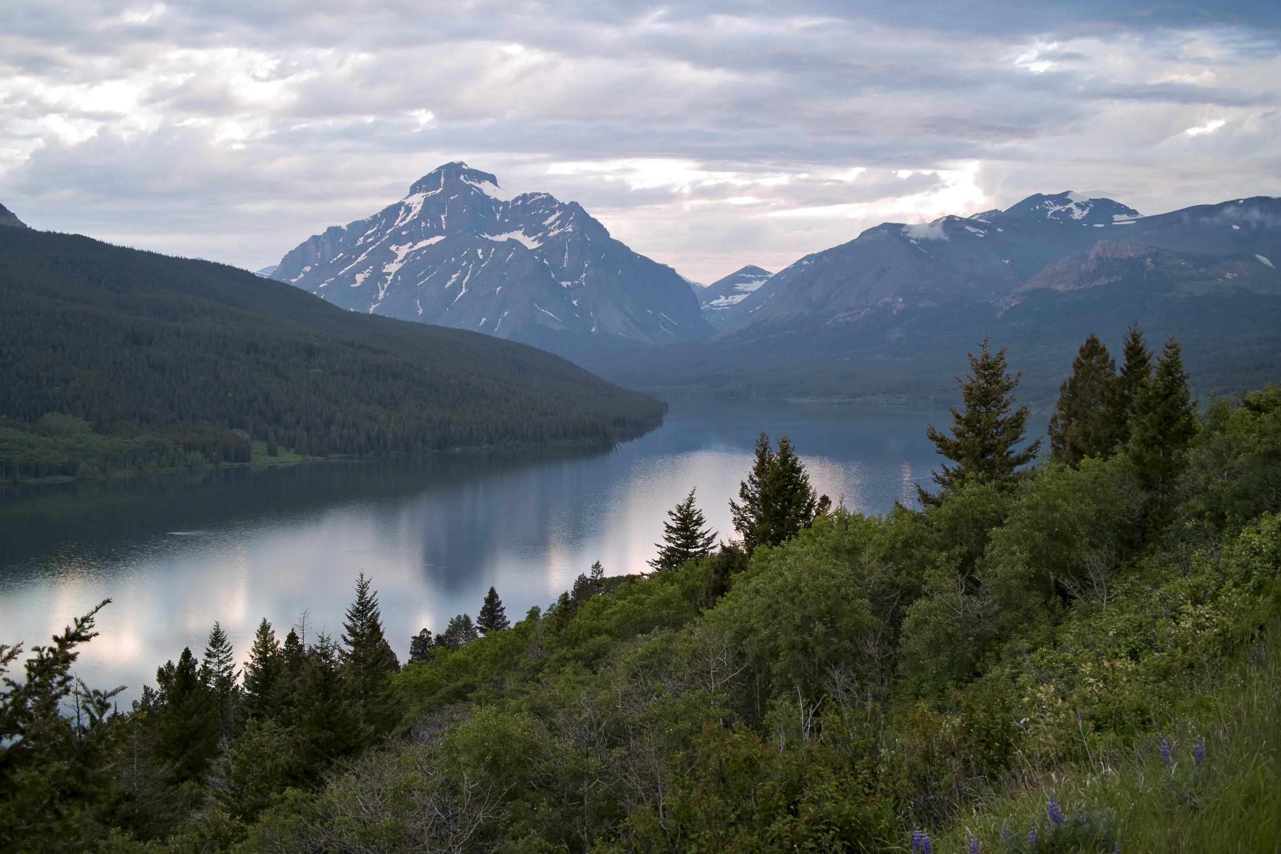 Two medicine lake glacier national park lake mountains wallpapers 2640x1760