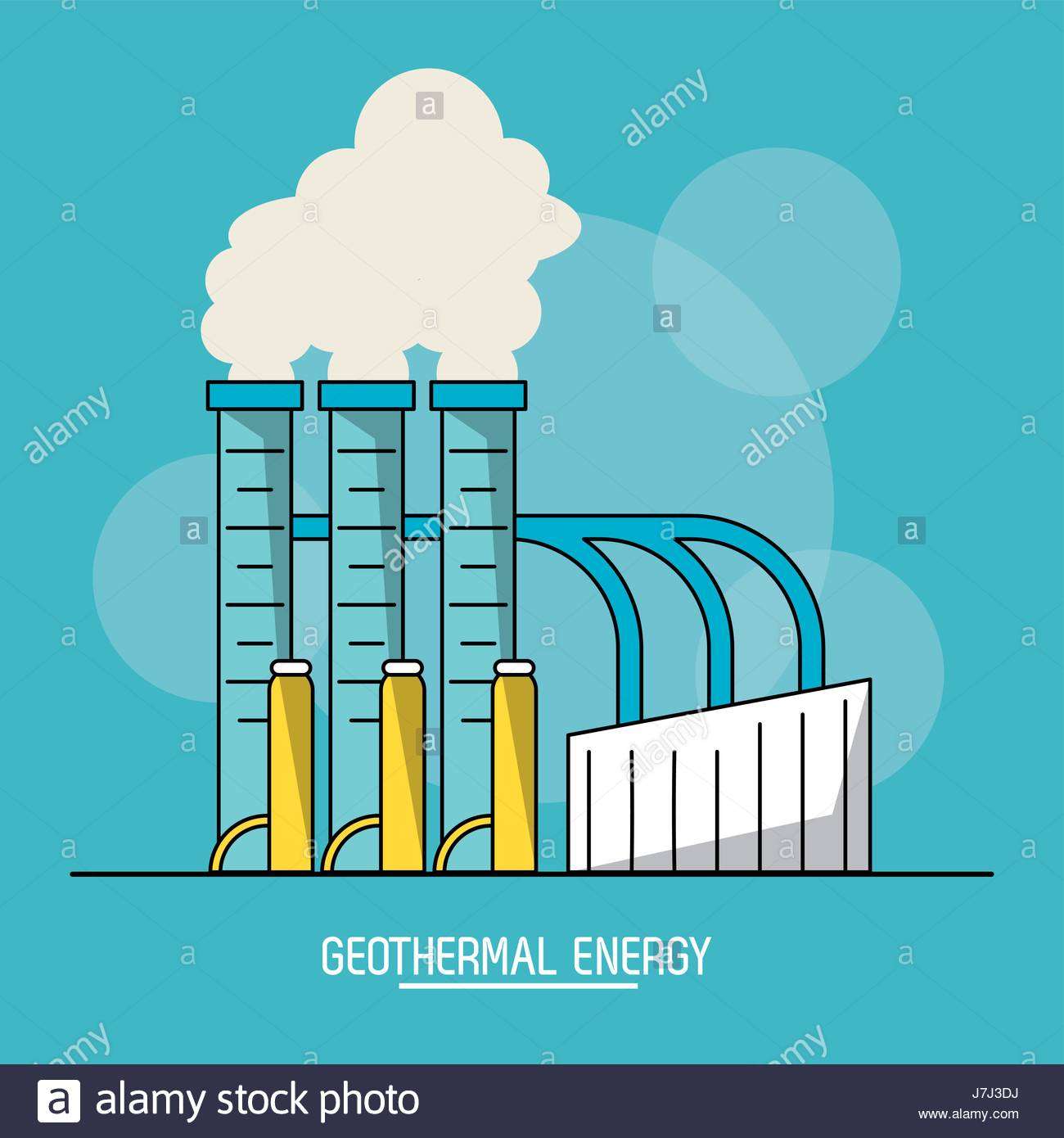 blue color background with bubbles of geothermal energy production 1300x1390