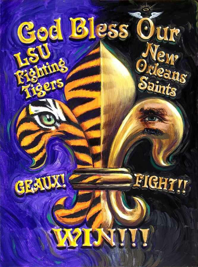 SAINTS LSU TIGERS FLEUR DE LIS Louisiana Pinterest Lsu Tigers 666x900