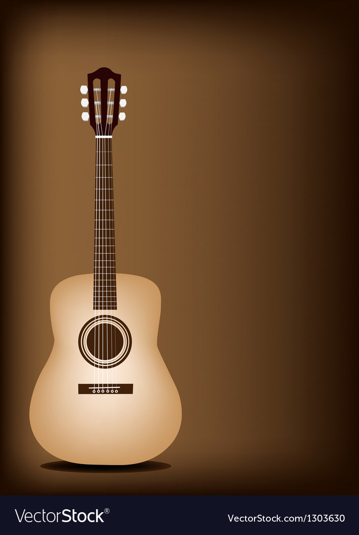 Classical Guitar on Dark Brown Background Vector Image 725x1080