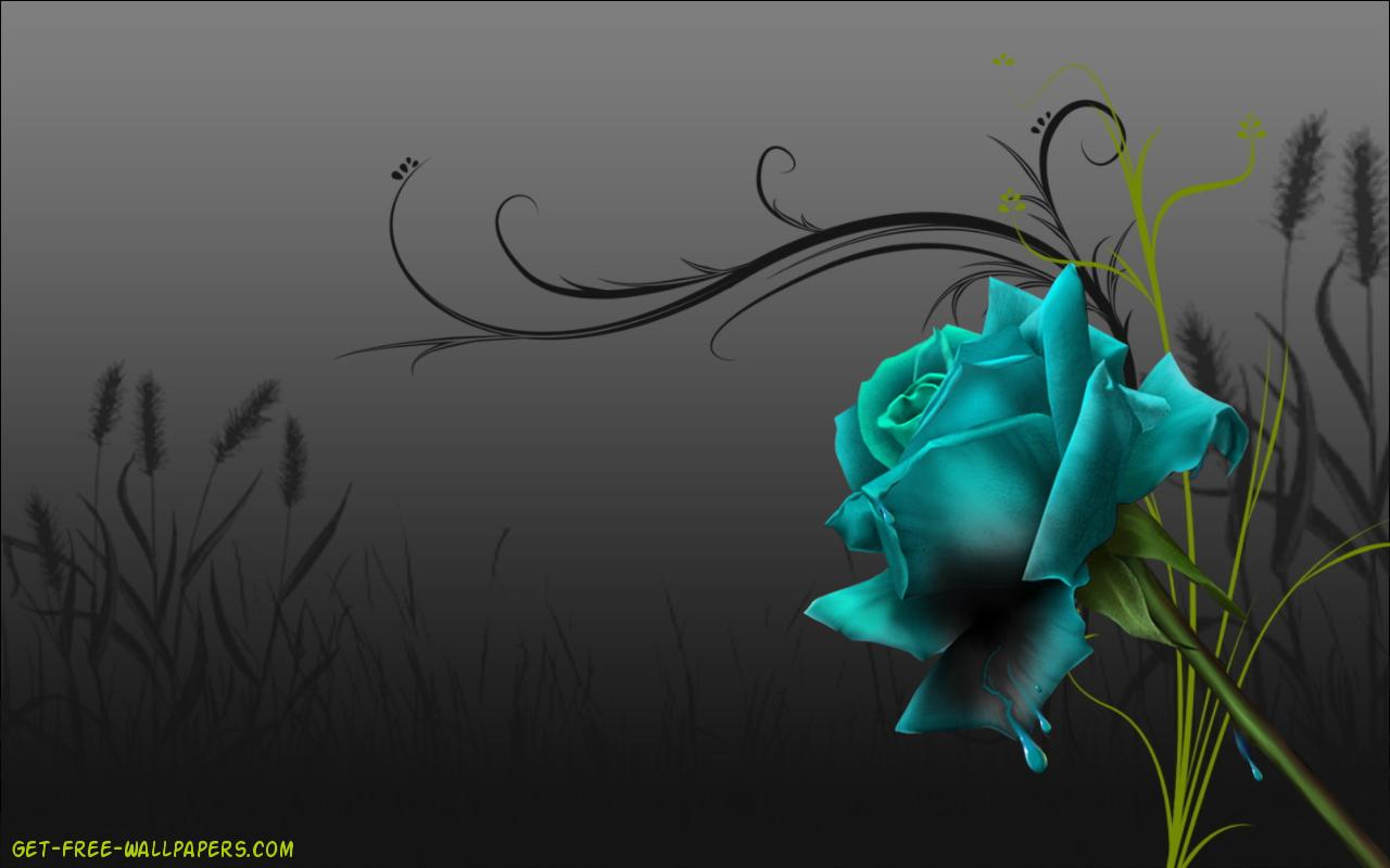 <b>Blue Black</b> Dark Power Glow On <b>Hd</b> Wallpapers ( Desktop Background