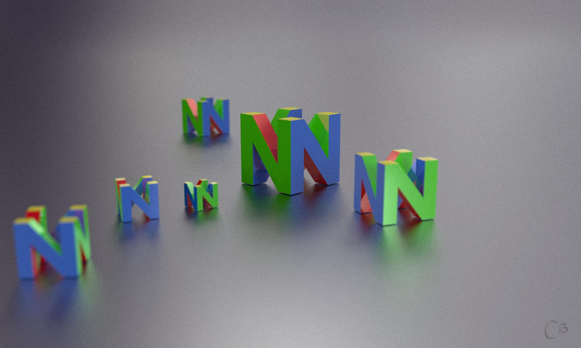 n64 logo hd wallpaper - HD1900×1140