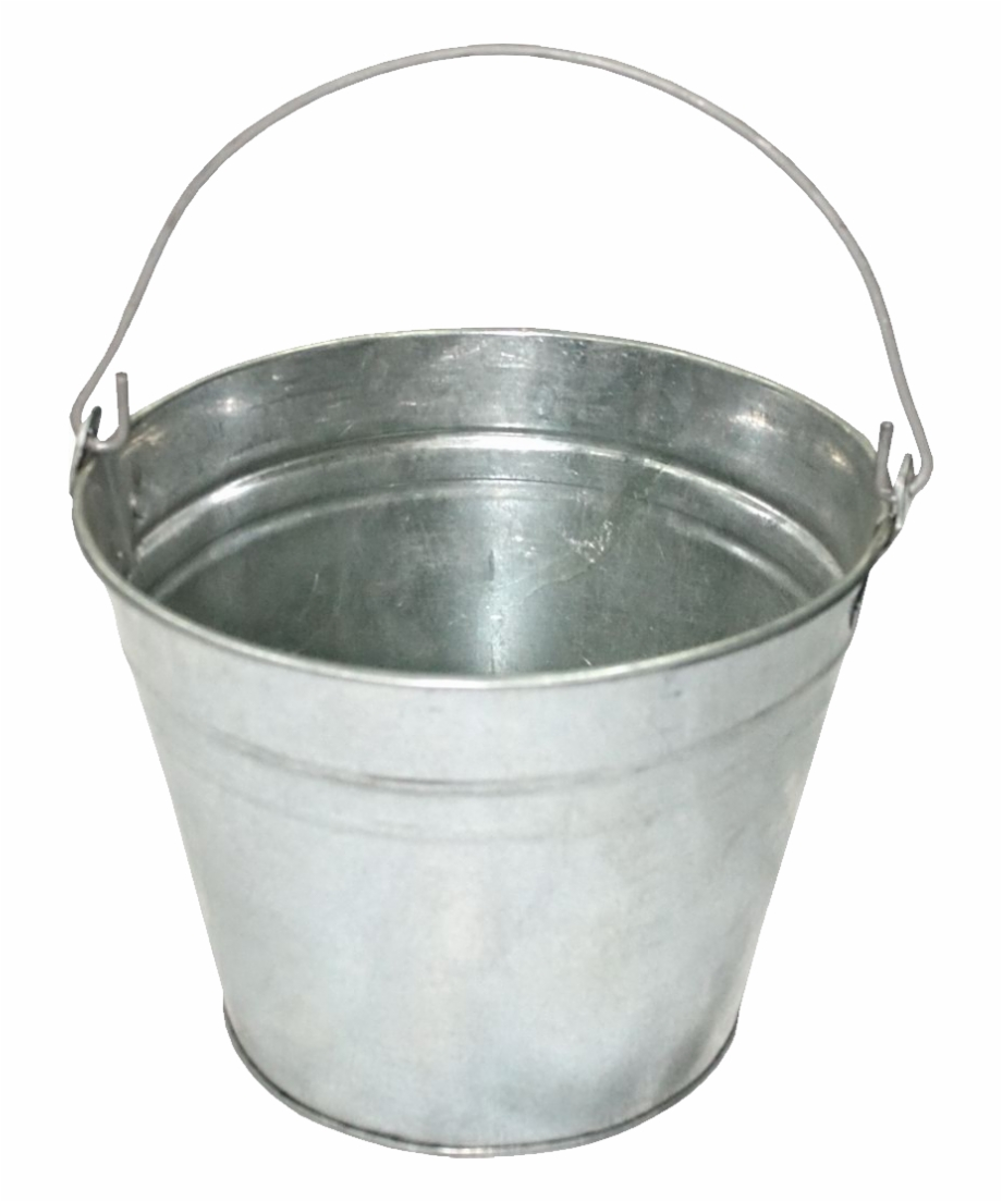 Metal Bucket Png Pic   Metal Bucket Transparent Background 920x1104