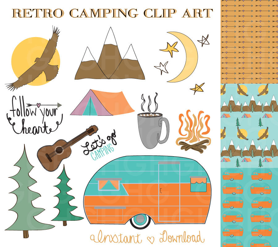 Free Download Camping Clip Art Retro Camper Clip Art Tent By Gracegraphicdesign 900x800 For Your Desktop Mobile Tablet Explore 48 Free Wallpaper Vintage Campers Vinyl Wallpaper For Trailers Wallpaper
