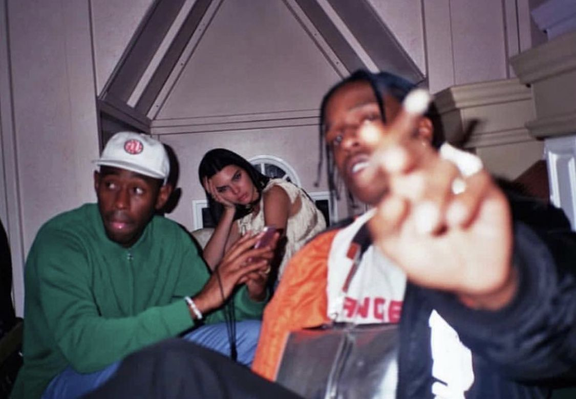 Tyler the Creator with Kendall Jenner and AAP Rocky in 2020 1125x778