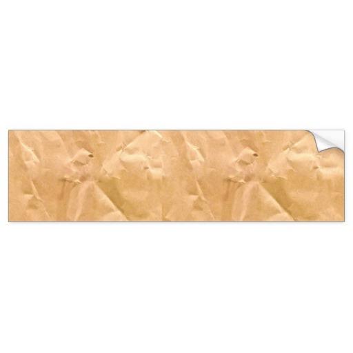 LIGHT BROWN PAPER BAG TEXTURE BACKGROUND WALLPAPER BUMPER STICKER 512x512